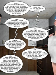 Chubby busty 3d girl can't stand her sexual - Cartoon Sex - Picture 15