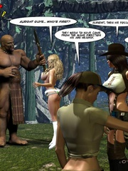 Slim body busty 3d blondie gets gang banges - Cartoon Sex - Picture 2