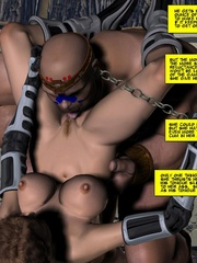 Slim body busty 3d blondie gets gang banges - Cartoon Sex - Picture 12