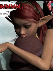 Cute little 3d elf pixie jack off huge hard - Cartoon Sex - Picture 9