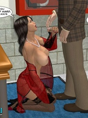 Super sexy 3d busty babe in black stockings - Cartoon Sex - Picture 13