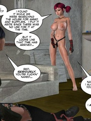 Two real hot 3d lesbians using strapon to - Cartoon Sex - Picture 2