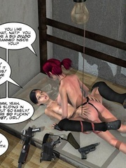 Two real hot 3d lesbians using strapon to - Cartoon Sex - Picture 12