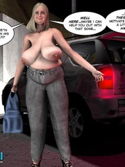 Plump 3d woman seduced and rides skinny young - Cartoon Sex - Picture 4