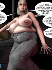 Plump 3d woman seduced and rides skinny young - Cartoon Sex - Picture 6