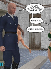 Perfect body 3d college girl in green bra and - Cartoon Sex - Picture 4