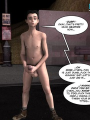 Plump 3d woman seduced and rides skinny young - Cartoon Sex - Picture 7