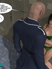 Perfect body 3d college girl in green bra and - Cartoon Sex - Picture 6