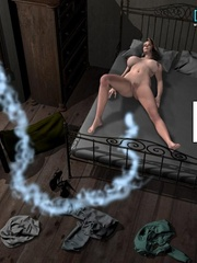Sleeping all naked 3d babe woke up because of - Cartoon Sex - Picture 4