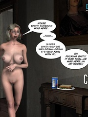 Sleeping all naked 3d babe woke up because of - Cartoon Sex - Picture 14