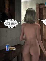 Sleeping all naked 3d babe woke up because of - Cartoon Sex - Picture 15