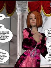 Young petite 3d redhead babe takes her - Cartoon Sex - Picture 11