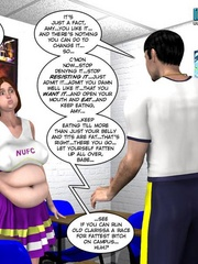 Fat 3d college girl seduced a coach in his - Cartoon Sex - Picture 4
