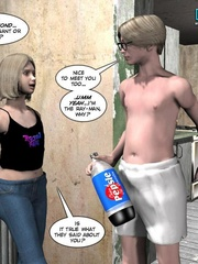 Slutty blonde 3d babe came to her new - Cartoon Sex - Picture 2