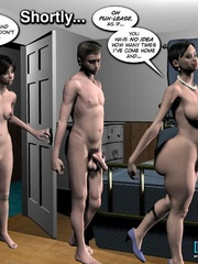 They continue their naughty threesome in the - Cartoon Sex - Picture 3