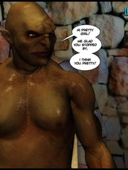 Ugly big 3d grog banging young cute human - Cartoon Sex - Picture 2