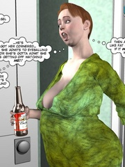 Young 3d husband jerking off his huge meat in - Cartoon Sex - Picture 14