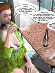 Big busty 3d mom forced her daughter's bf to - Cartoon Sex - Picture 3
