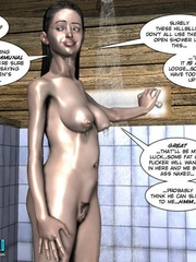 Super horny 3d babe taking shower and rubbing - Cartoon Sex - Picture 8