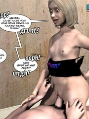Blonde slutty 3d girl feels hard stiff cock - Cartoon Sex - Picture 4