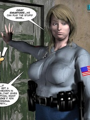Plumm 3d police woman can't stand huge dick - Cartoon Sex - Picture 8