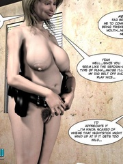Plumm 3d police woman can't stand huge dick - Cartoon Sex - Picture 16