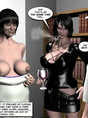 Two round booty twin girls seduced big cocked - Cartoon Sex - Picture 7