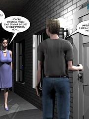 Plump smoking 3d woman seduced a younger guy - Cartoon Sex - Picture 5