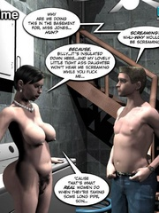 Plump smoking 3d woman seduced a younger guy - Cartoon Sex - Picture 12
