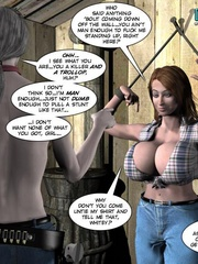 Horny tall 3d guy tied busty brunette girl - Cartoon Sex - Picture 7