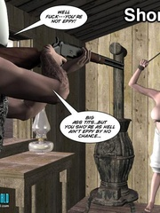 Heavy tits blonde 3d woman gets tied and - Cartoon Sex - Picture 2