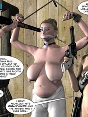 Heavy tits blonde 3d woman gets tied and - Cartoon Sex - Picture 3
