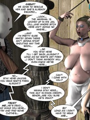 Heavy tits blonde 3d woman gets tied and - Cartoon Sex - Picture 5