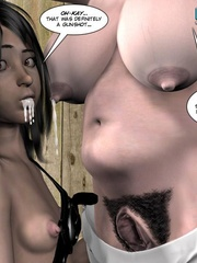 Heavy tits blonde 3d woman gets tied and - Cartoon Sex - Picture 15