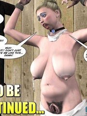 Heavy tits blonde 3d woman gets tied and - Cartoon Sex - Picture 16