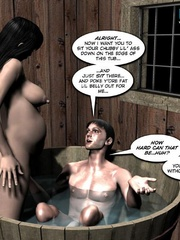 Plump horny 3d woman and slim colonel with - Cartoon Sex - Picture 4