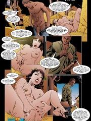 Three cartoon half naked babes sleep in one - Cartoon Sex - Picture 4