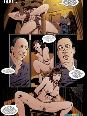 Tied cartoon brunette chick get her pussy - Cartoon Sex - Picture 3