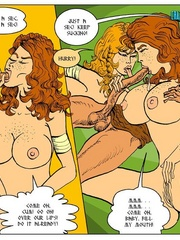 Two nasty toon chick can't share one viking - Cartoon Sex - Picture 5