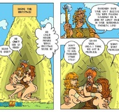 Two nasty toon chick can't share one viking guy…