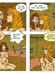 Horny blonde cartoon girl gives an awesome - Cartoon Sex - Picture 5