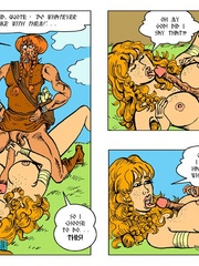 Horny blonde cartoon girl gives an awesome - Cartoon Sex - Picture 12