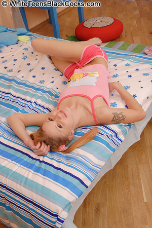 Pigtailed teen takes her first black coc - XXX Dessert - Picture 1