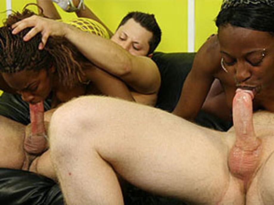 Ebony Lesbian Eating Cum