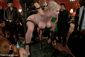 Busty blonde slave babe pounded by balck - XXX Dessert - Picture 9