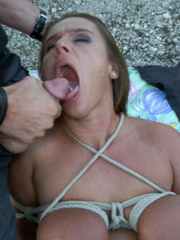 Busty bound european babe gets her tight - XXX Dessert - Picture 14
