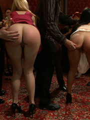 Tied up and humiliated slave babes are just - XXX Dessert - Picture 1