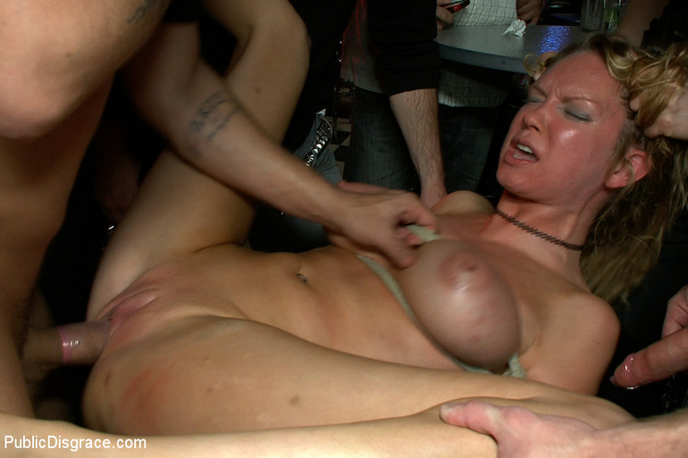 Roped blonde slave with epic boobs gets her - XXX Dessert - Picture 6