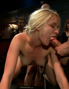 Lovely blonde slave chick is under intense sexual&hellip;