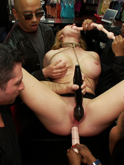 Blonde big boobed roped girl fucked - XXX Dessert - Picture 9